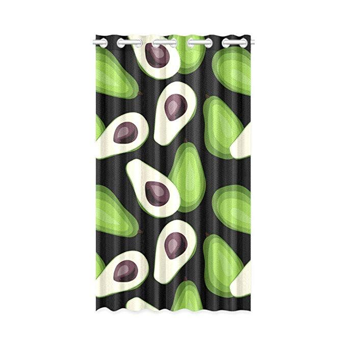Interestprint Blackout Window Curtain Avocado Drapes Bedroom Living Room Kitchen Curtains 52x84 Inch Bedroom Drapes Window Curtains Curtains