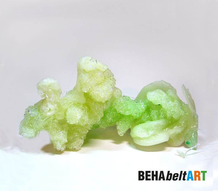 GLISTENING ICE CRYSTAL Winter white ice crystal in white-green-transparent colour. Size: 30x15,5cm. Art · Sculpture · Plastic · TEP · Kunst. art@behabelt.com