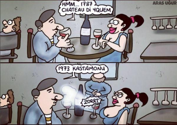 Şarap Tadımı Karikatürü Aras Uğur | Karikatürname