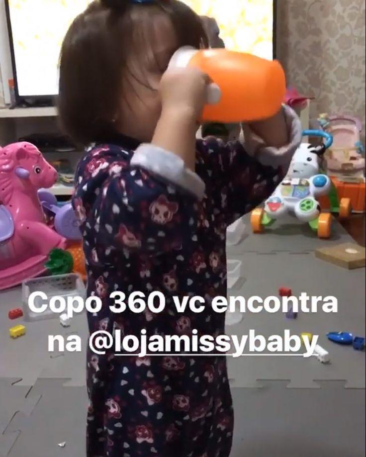 A princesa @lalalaurinhaa aprovou e mostrou no stories dela que o copo 360 da Munchkin não vaza ❣️ Compre o seu pelo nosso site www.missybaby.com.br