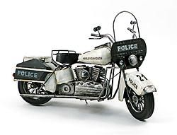 Metal Antique Police Motorcycle - $62.49