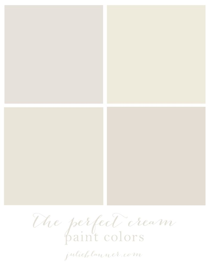 The best cream paint colors - see how they look in actual rooms in different lighting.