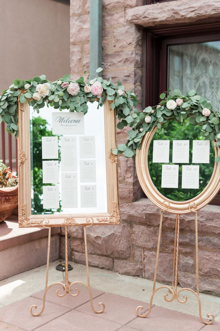 Mirror wedding escort card displays: Photography: Maison Meredith - http://maisonmeredith.com/