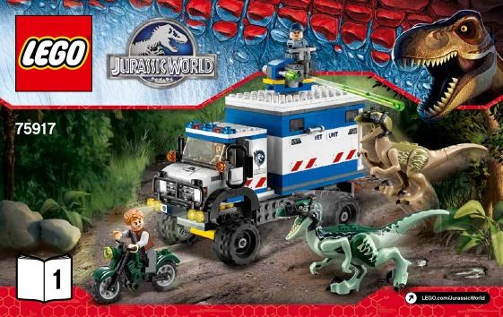 LEGO Raptor Rampage Instructions 75917, Jurassic World