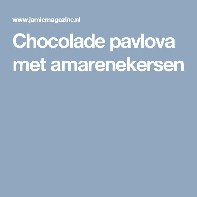 Chocolade pavlova met amarenekersen