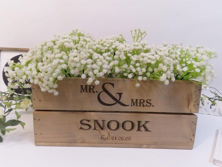 "78 Likes, 5 Comments - Apple Crates UK (@applecratesuk) on Instagram: ""Add a personalised touch to your wedding with our engraved small wooden apple crate. #wedding…"""