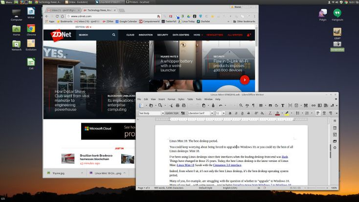 Linux Mint 18 Cinnamon optimized desktop