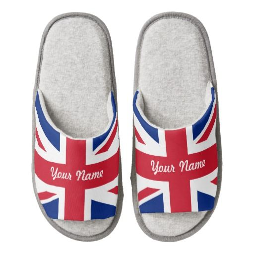 British flag slippers pair of open toe slippers