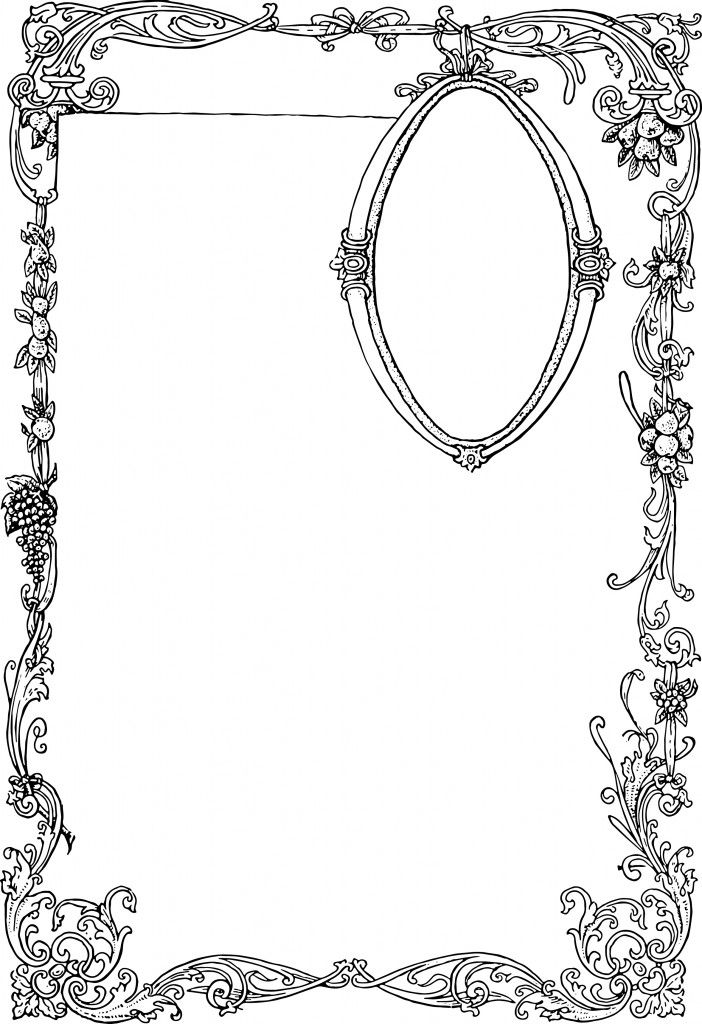Stunning Free Vector Art - Ornate Border and Frame | Oh So Nifty Vintage Graphics