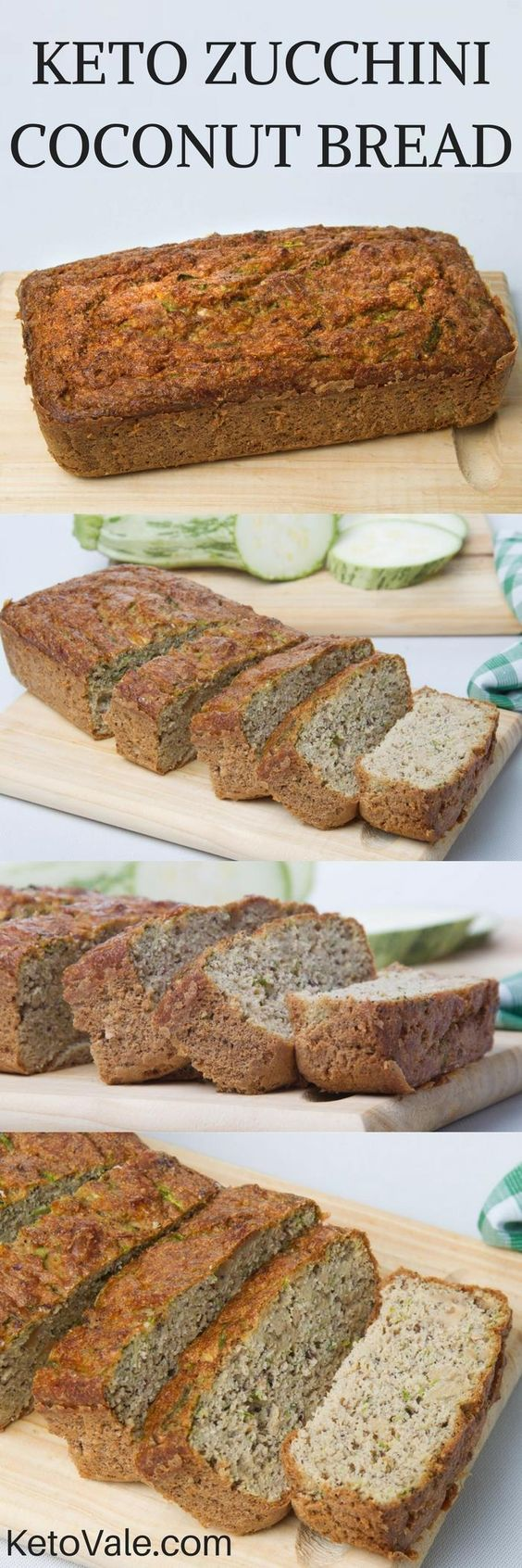 Wow you must try this easy and tasty Keto Zucchini Coconut Bread! A combination of zucchini and coconut flour will give it the amazing flavor!