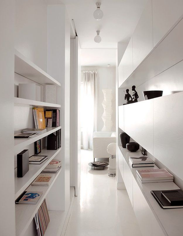 Storage idea for a narrow space.