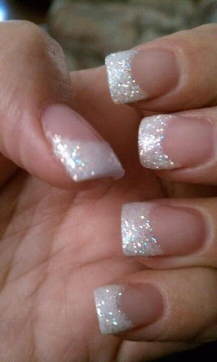 25 best ideas about sparkle french manicure on pinterest sparkly french manicure glitter. Black Bedroom Furniture Sets. Home Design Ideas