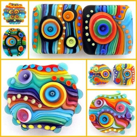 These juicy beads are the creation of Israel's Michal Silberberg on The Polymer Arts magazine's blog.