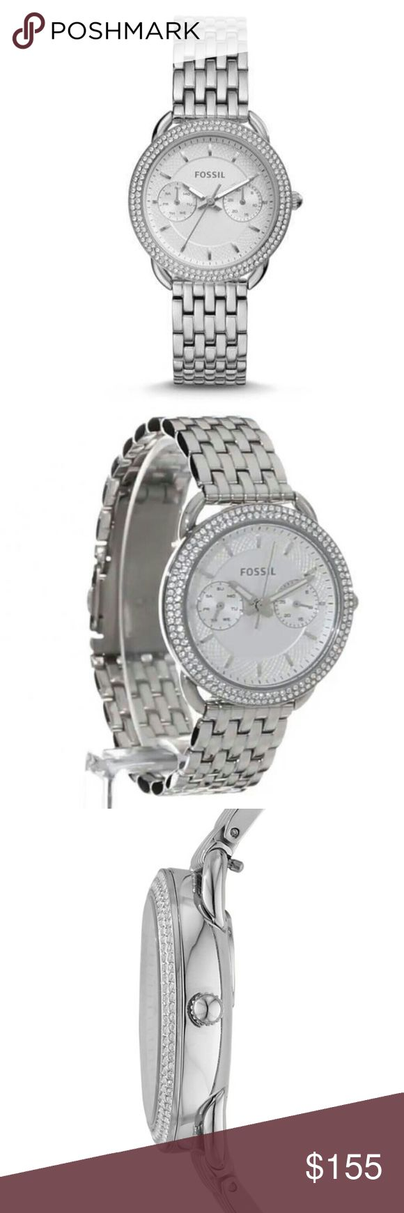Fossil Tailor Watch Tailor Multifunction Stainless Steel Fossil Watch💎 ES4054 is a full price watch that is no longer sold online! One of Fossils best selling watches! Fossil Accessories Watches