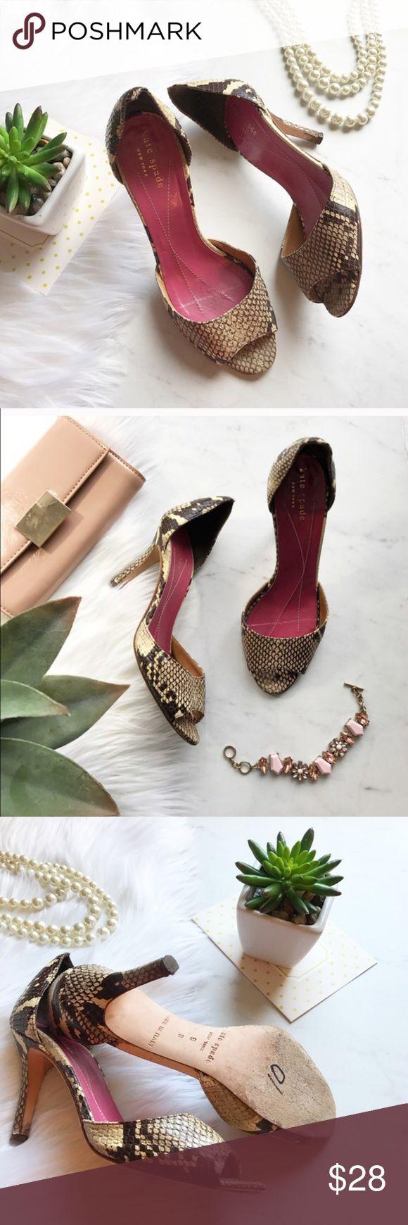 Kate Spade sandals Animal print heels , worn but still in good shape. Pet & smoke free home! kate spade Shoes Heels