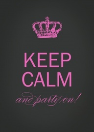 Keep Calm Birthday Invitation