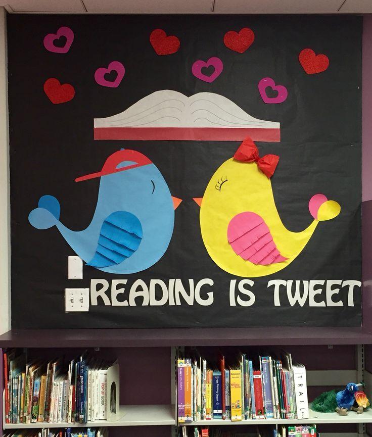 Valentine's Day library bulletin board
