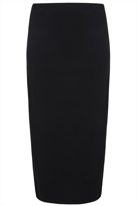 Black Jersey Maxi Tube Skirt