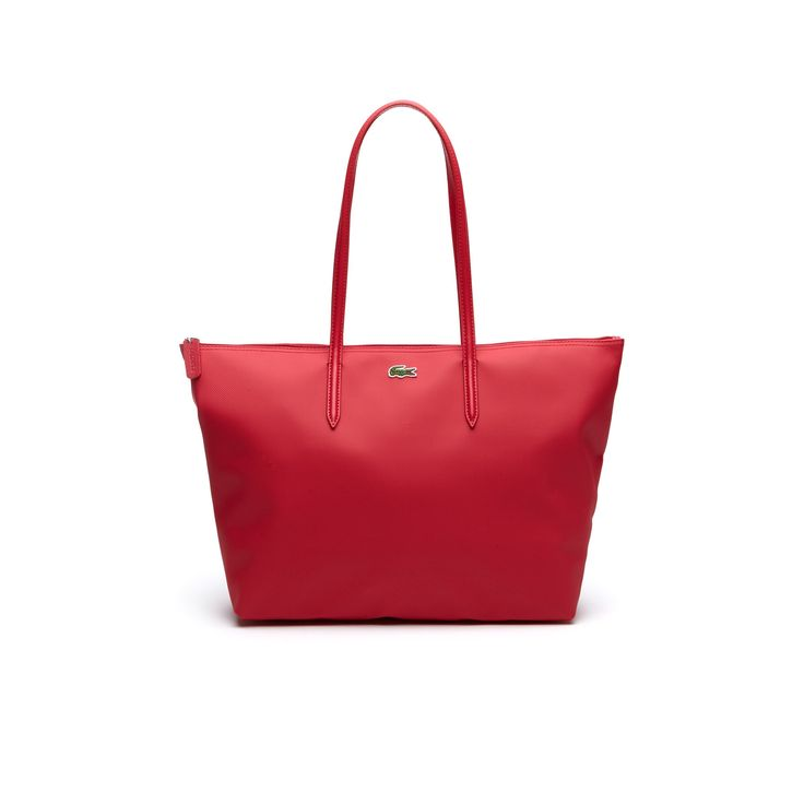 LACOSTE Women's L.12.12 Concept Zip Tote Bag - virtual pink. #lacoste #bags #hand bags #pvc #tote #