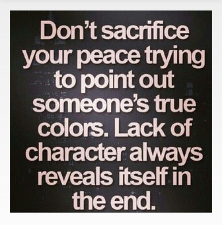 If you are being the best you don't stoop to a lower level as another person there troubling will come back.