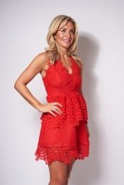 Havetolove Premium Taylor Red Lace Dress