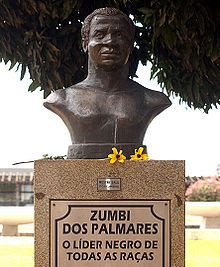 On this day in history 11/20/17. In 1695, Zumbi dos Palmares, the Brazilian leader of a 100-year-old, is killed in an ambush. Now you know. Statute image in Brasilia, Brazil courtesy of Wikipedia.
