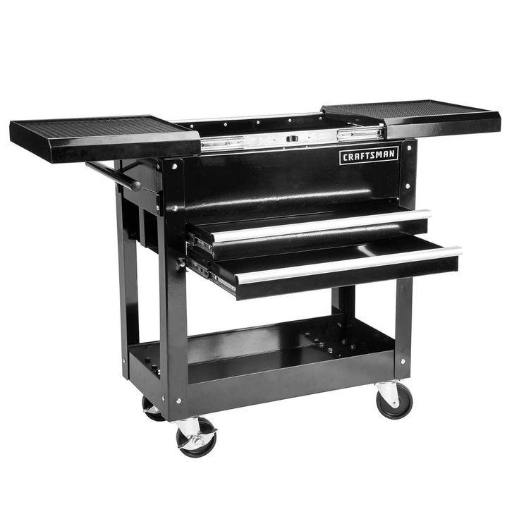Craftsman 31 in 2 Drawers 1 Shelf Mechanic Rolling Tool Cart DIY Garage Black   Home & Garden, Tools, Tool Boxes, Belts & Storage   eBay!