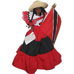 National colors of Trinidad and Tobago.