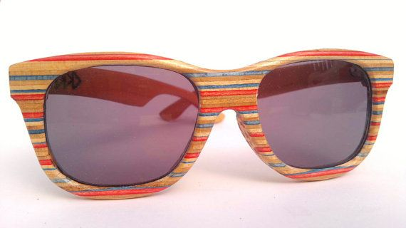 Red and Blue Colour way by Sk8Shades on Etsy, $120.00