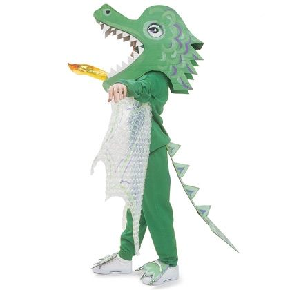 Fire-breathing Dragon - Homemade Costume for Kids