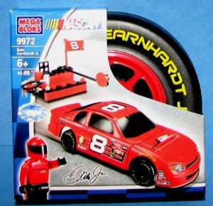 "Nascar Dale Earnhardt Jr Mega Bloks 9972 by Mega Brand. $13.75. Nascar Dale Earnhardt Jr Mega Bloks Race Car Set. Mega Bloks Racing Tire Is Approx. 5""H X 5""L. Ages 6+ Contains 45 Pcs. Mega Bloks 9972. Can Be used With Nascar Mega Bloks sets  9971 9973 9974 (not Included). Mega Bloks Nascar Dale Earnhardt Jr Race Car Building Set with Pit Stop 45 Pieces Includes Dale Earnhardt Jr Minifig"