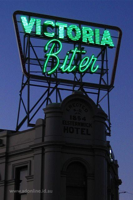 Victoria Bitter (Elsternwick Hotel)   Melbourne Neon   adonline.id.au