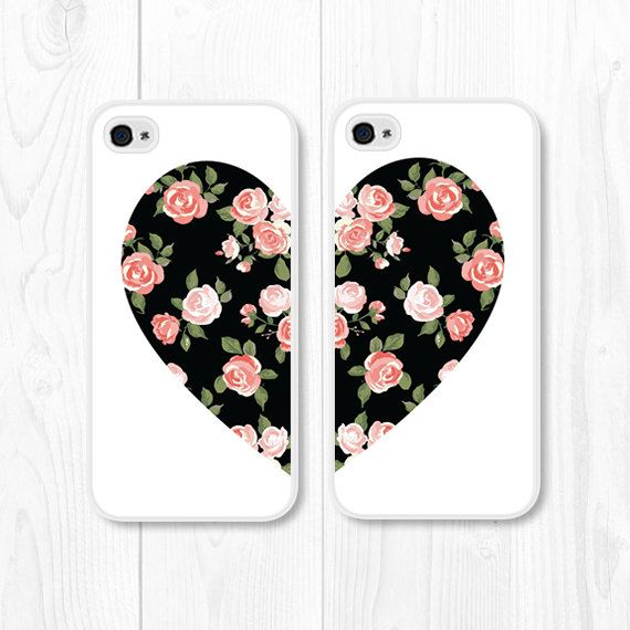 Besties Black Coral Floral iPhone 5 Case iPhone 5s by fieldtrip, $28.00