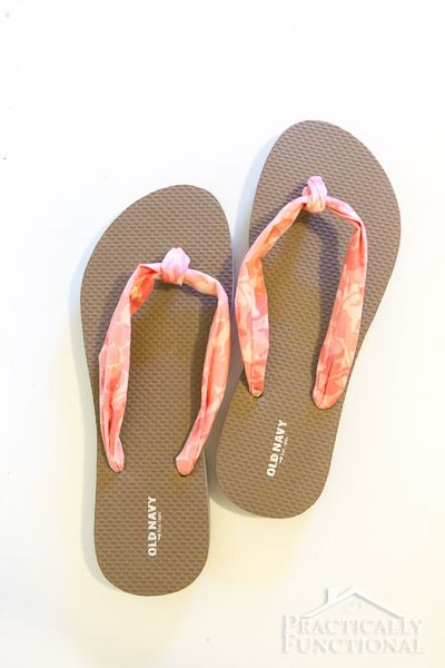 How To Make Fabric Flip Flops For Under $5! || Practically Functional