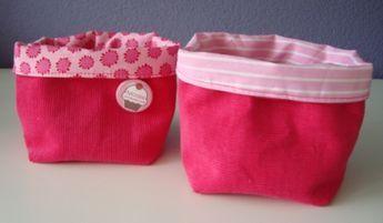mandjes van stof naaien - sewing baskets (nederlandse tutorial).