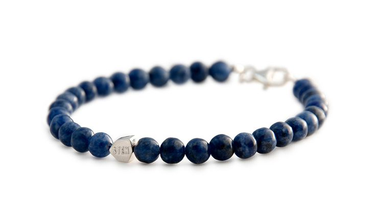 The Dumortierite bracelet beads are one of the rarer and more unusual blue varieties of quartz gemstones. Dumortierite also has a few industrial purposes other than jewelry. Since it is known to turn remarkably pure white in color when fired, it is often used for the production of porcelain and ceramics.