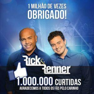 Rick & Renner alcançam 1 milhão de fãs no Facebook