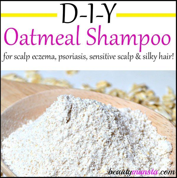 Make your very own DIY oatmeal shampoo to soothe scalp eczema, psoriasis or a sensitive scalp! If you're looking for a natural non-soapy shampoo recipe, then you'll love this one!