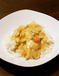 Coconut Red Curry Chicken with Tomatoes