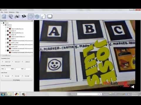 Construcción de marcadores para realidad aumentada-Artoolkit y BuildAr - YouTube