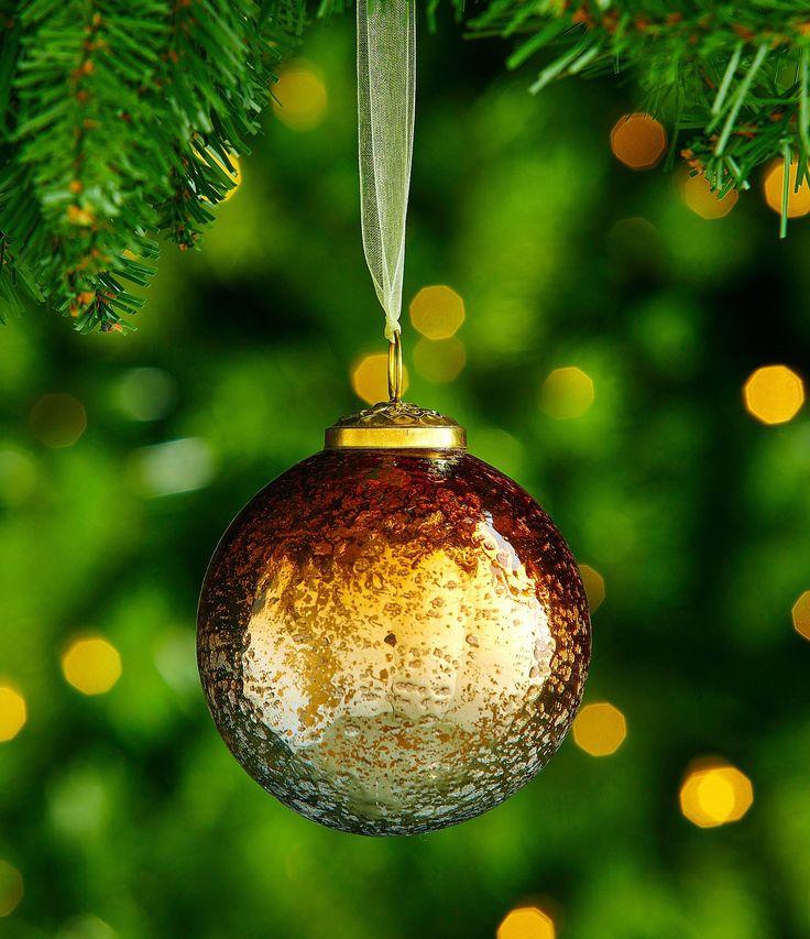 Trimsetter Bo Ho Ho Collection Foiled Glass Ball Ornament #Dillards