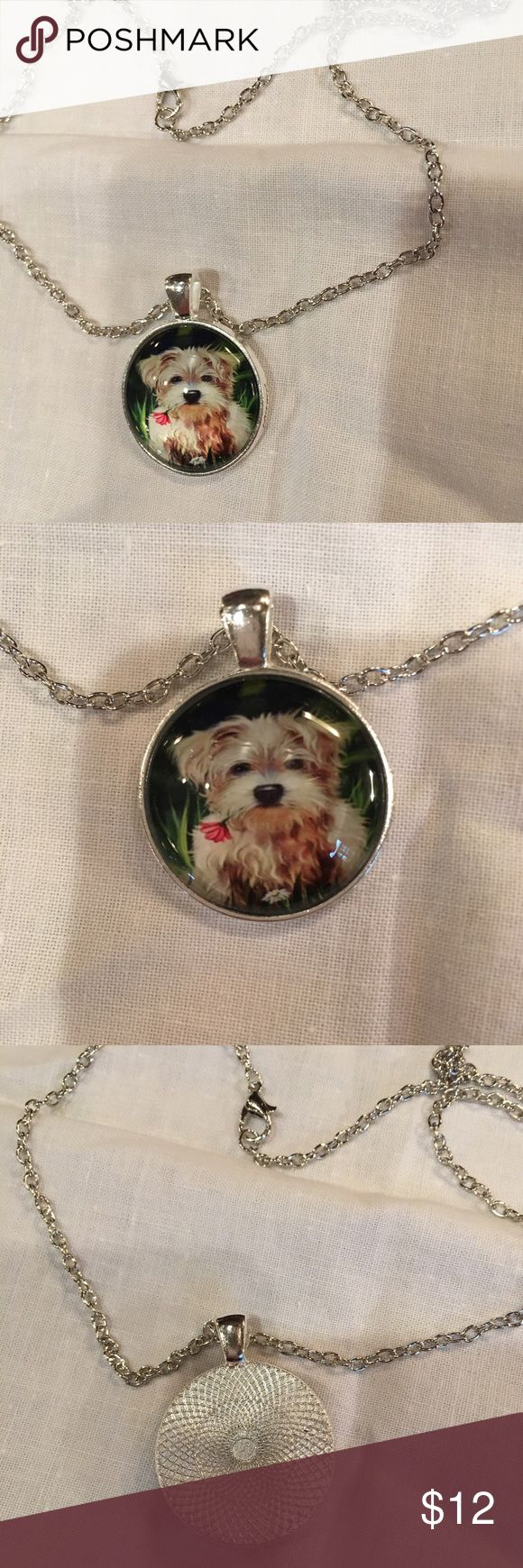 """So sweet Yorkie necklace NWOT So cute little Yorkie  necklace with approximately 18"""" chain N/A Jewelry Necklaces"""