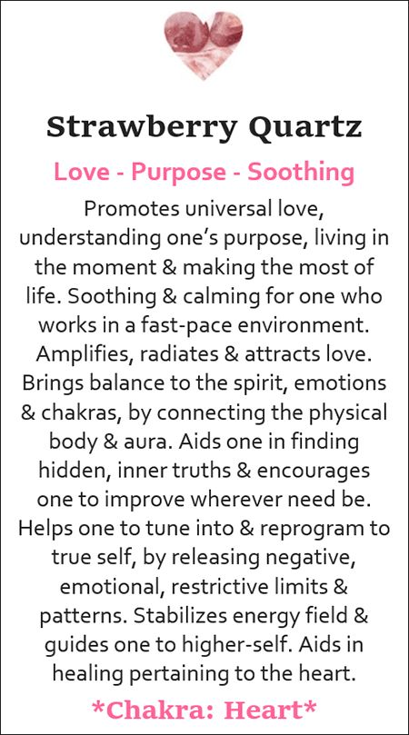 Meaning Cards ⋆ Soul Crystals LLC