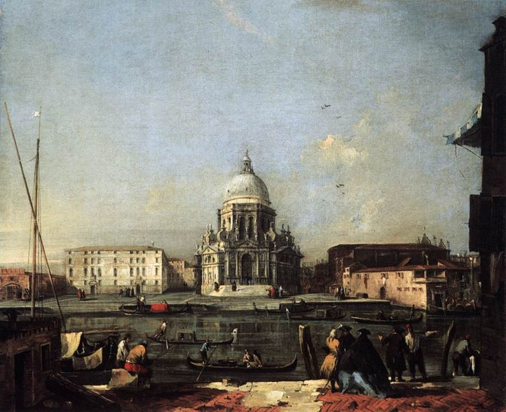 Francesco Guardi, Pohled na S. M. della Salute, 1. polovina 60. let 18. století