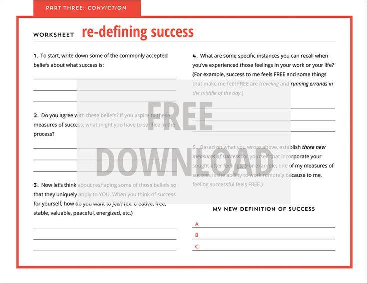 freebie friday re defining success worksheet made vibrant creativeentrepreneur worksheet. Black Bedroom Furniture Sets. Home Design Ideas