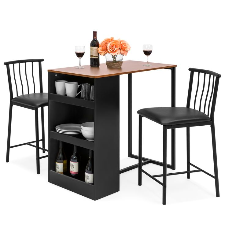 best choice products 3piece wooden counter height dining