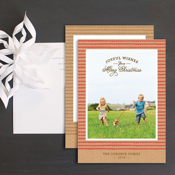 Joyful Scallops Holiday Photo Cards by Ringleader Paper Co. | Elli
