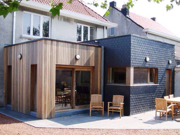 Been thinking about breaking studio down architecturally ( not the right materials for extension, but part of it ie verandah) can mimic house