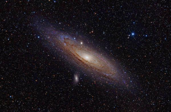 """La galassia di Andromeda (fonte: Adam Evans)  Un """"faro"""" di raggi x nella gemella della via lattea."""