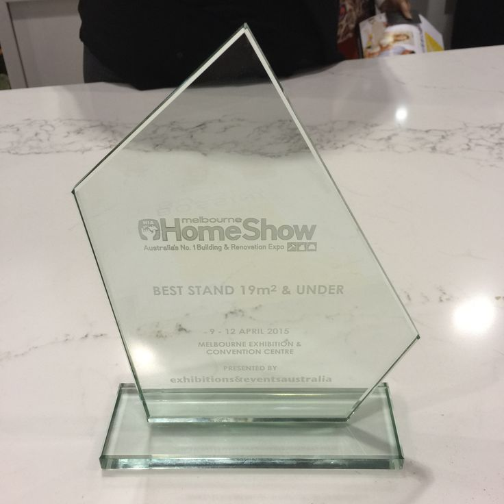 """Melbourne April 2015 """"HIA"""" Home Show. Kitchen Design by """"Bossini Kitchens"""" Printed Glass Splashback by """"Seein""""  A Great team effort, awarded with Display Stand of The Show"""